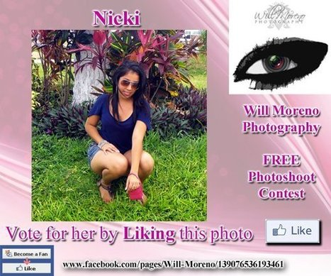 Nicki - Contestant to win a FREE Photoshoot with Will Moreno | Belize in Photos and Videos | Scoop.it