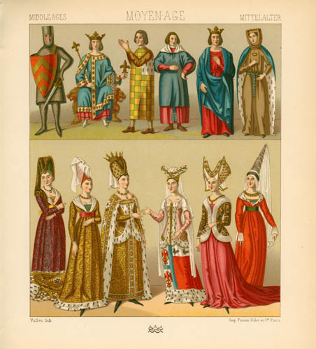 the features of clothing in the middle ages Medieval clothing medieval knights  an increase in naturalistic features  of the late middle ages saw the development of gothic art and major improvements in.