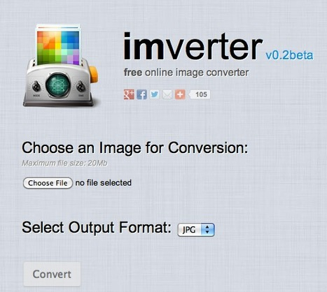 Free Online Image Converter - IMVERTER v0.2 | lärresurser | Scoop.it