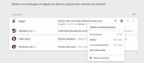 Inbox : la boîte mail 2.0 pensée par Google n'a plus rien à voir avec Gmail. La preuve... | Inspiration | Scoop.it