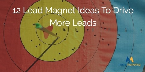 12 Lead Magnet Ideas To Drive More Leads | #inboundmarketing and #growthhacking world | Scoop.it
