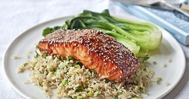 Useful Weight Loss Ideas: Grilled Teriyaki Salmon with Ginger Rice and Bok Choy Recipe | Useful Weight loss Ideas | Scoop.it