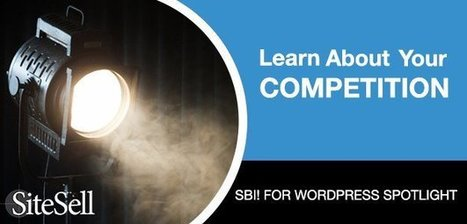SBI! for WordPress Feature: Learn About Your Competition - The SiteSell Blog | The Content Marketing Hat | Scoop.it