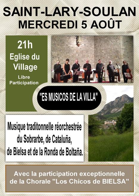 Concert d'Es Musicos de la Villa à Saint-Lary le 5 août | Revue de Web par ClC | Scoop.it