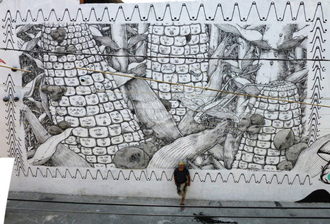 Juxtapoz Magazine - New Liqen Mural in Pueblo, Mexico | Street Art | World of Street & Outdoor Arts | Scoop.it