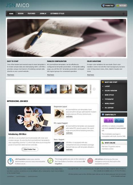 JSN Mico, Joomla Responsive Business Portfolio Template | Premium Download | jsn mico | Scoop.it