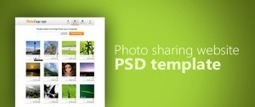 Premium Photo Sharing Website PSD Template for Free Download - Freebie No: 32 | Website Design Template PSD | Scoop.it