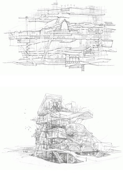 Stuart Franks' City in a Building (and other drawings) – – SOCKS | The Architecture of the City | Scoop.it