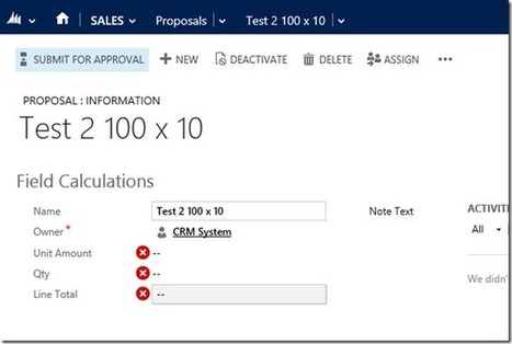 CRM 2013 New Features: JavaScript Notifications | Microsoft Dynamics CRM 2013 | Scoop.it