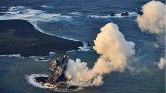 Watch! An underwater volcano creates a new island south of Japan - Los Angeles Times   M2M 2014   Scoop.it