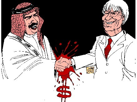 'Blood-Brothers' in greed:  Hamy Al-Khalifa and Bernie Ecclestone.....No Bahrain F1 ! | Human Rights and the Will to be free | Scoop.it