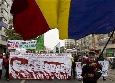 Thousands in Romania protest plans for gold mine | Save Rosia Montana | Scoop.it