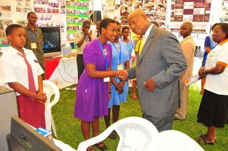 """Celebrating 25 Years of IEARN: """"Uganda Adobe Youth Voices students meet President of Uganda, 2010"""" 