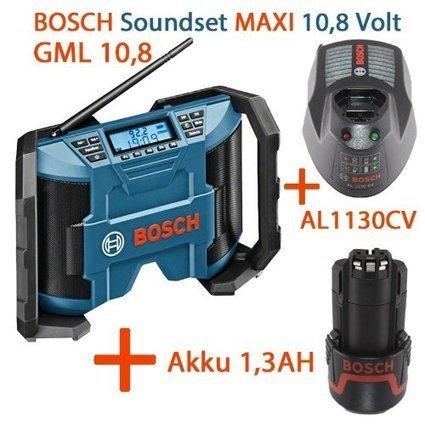!@#   Bosch Soundset MAXI Akkuradio – Netzradio GML 10,8V-Li 2x5Watt Musikleistung mit AUX-In-Kabel + 1x Akku 10,8V 1,3AH + Ladegerät AL1130CV   Krabbeldecken Günstig   Scoop.it