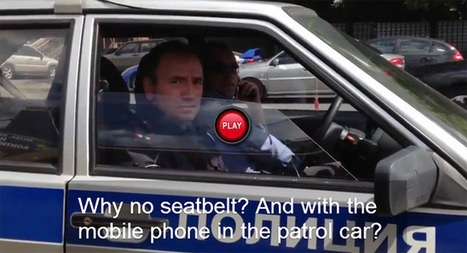 Russian Driver Scolds Cops for Not Wearing Seat Belts and Talking on the Phone - Carscoop | Police Problems and Policy | Scoop.it
