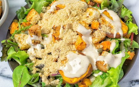Sweet Potato Caesar Salad [Vegan] | Vegan Food | Scoop.it