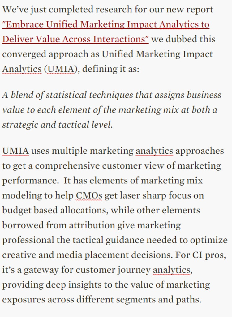 Introducing Unified Marketing Impact Analytics - Forrester | The Marketing Technology Alert | Scoop.it