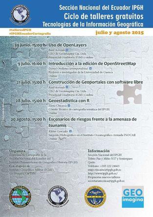 Ciclo de seminarios gratuitos del IPGH Ecuador sobre Geotecnologías