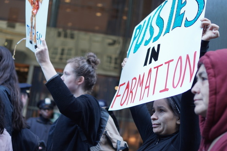 'Pussies in Formation': Women Block Trump Tower in Protest of GOP Presidential Nominee | Fabulous Feminism | Scoop.it