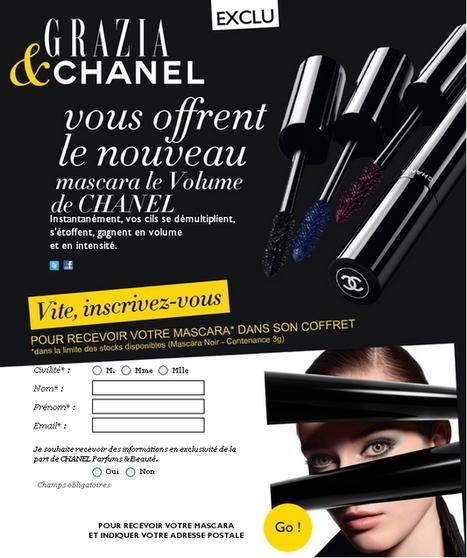 E-Sampling et widget, la maison Chanel innove pour le lancement de son nouveau mascara - Web and Luxe - Blog Luxe Marketing   The secrets of luxury   Scoop.it