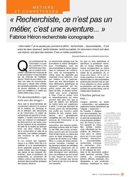 Fichier PDF Fabrice_Heron_recherchiste_iconographe_2D_ADBS_AVRIL_2015.pdf | Métier de documentaliste-iconographe | Scoop.it