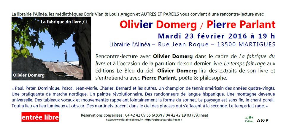 (agenda) 23 février, Martigues, Olivier Domerg et Pierre Parlant | Poezibao | Scoop.it