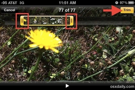 How to Trim Video Quickly Right on the iPhone or iPad | OSXDaily | How to Use an iPhone Well | Scoop.it
