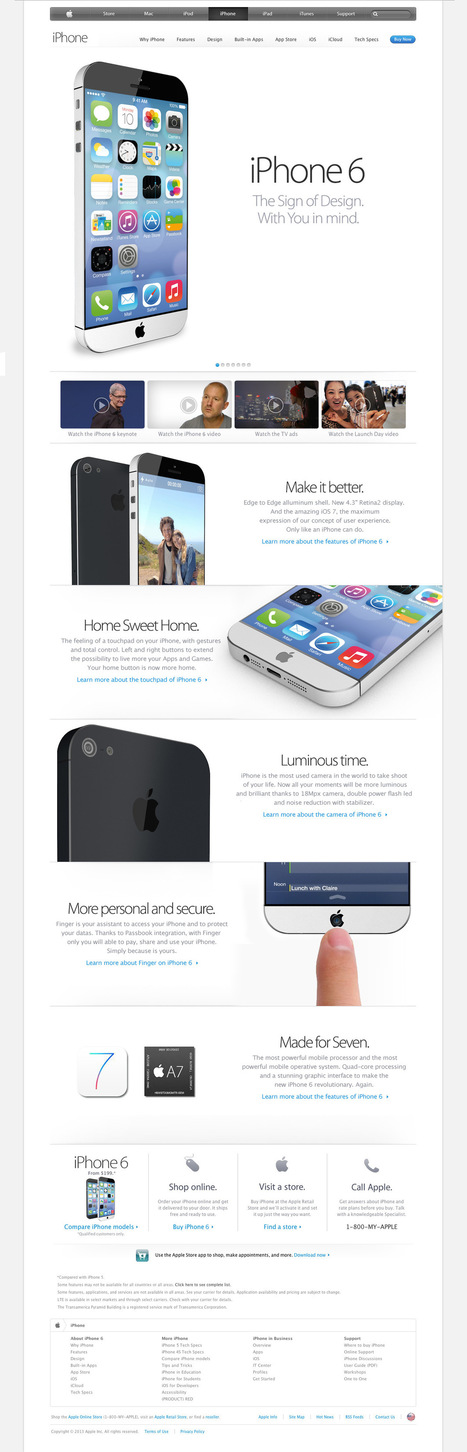 Gorgeous iPhone 6 Concept Has Everything You Want | iPhone-Developers | Jailbreak News, Guides, Tutorials | Scoop.it