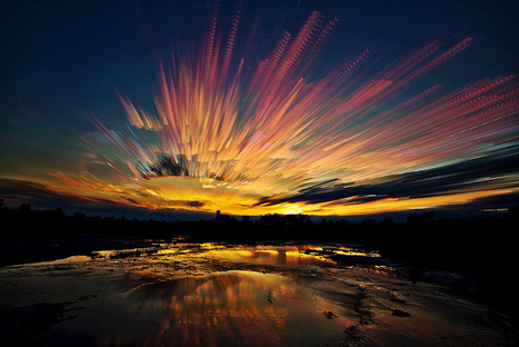 Painted Skies Using Time-lapse Photographs | rakarekodamadama | Scoop.it