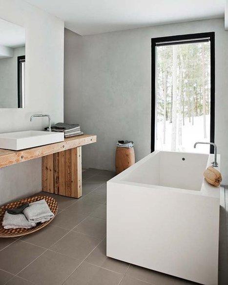 Visite déco : Une cabane au confort moderne dans la forêt   décoration & déco   Scoop.it