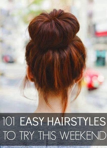 10 Easy Hairstyles To Try This Weekend | My Favorite Things | Hairstyle Tutorials | Scoop.it