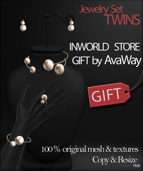 Twins Jewelry Set Gift by AvaWay | Teleport Hub - Second Life Freebies | Second Life Freebies | Scoop.it