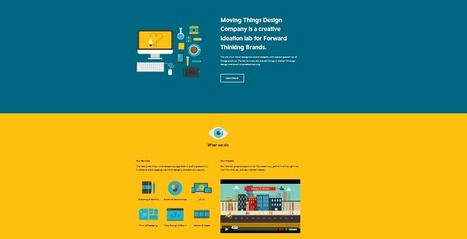 15 modern single page flat design | Design Ideas | Scoop.it