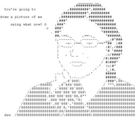 ASCII Portrait, made to order   ASCII Art   Scoop.it