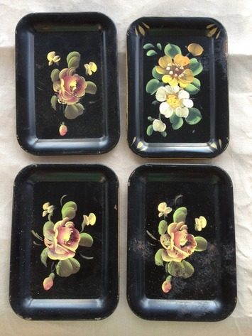 Set of 4 vintage hand painted trays | Antiques & Vintage Collectibles | Scoop.it