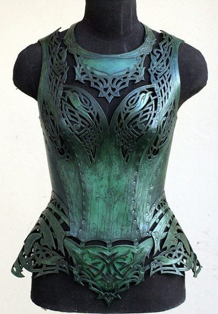 "Corset ""Malachite"". Made by Andrew Kanounov, Moscow, Russia. 