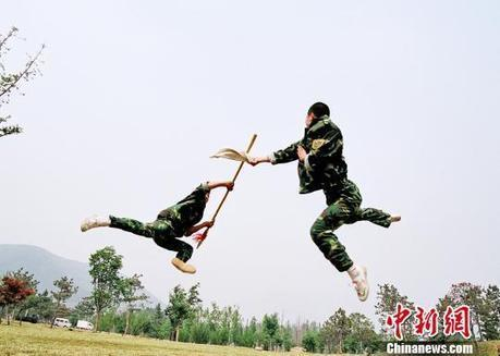 30 wushu masters join PLA Marine Corps - People's Daily Online | Guang Ming Wushu Amsterdam | Scoop.it