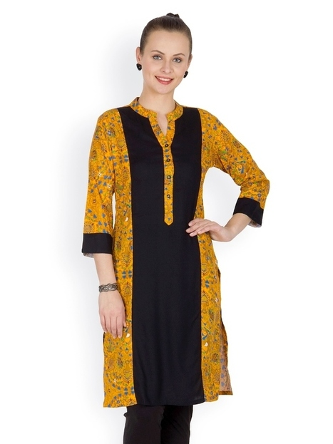 Buy Orange and black Cotton Printed Kurta Online India ARY865 | Women's Fashion & Jewellery Shopping | Scoop.it