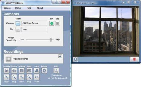 Sentry Vision Security, software gratuito para convertir tu webcam en un sistema de vigilancia y seguridad | webs recomendadas | Scoop.it
