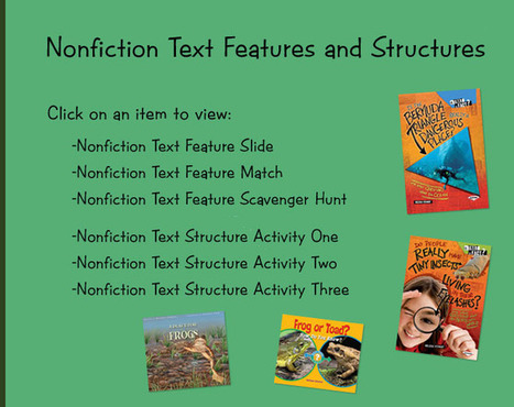 Nonfiction text structure activity pages - Melissa Stewart | Keep learning | Scoop.it