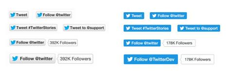 Twitter : un nouveau design pour les boutons Follow et Tweet (et suppression du compteur) - Blog du Modérateur | Yat & Print media | Scoop.it