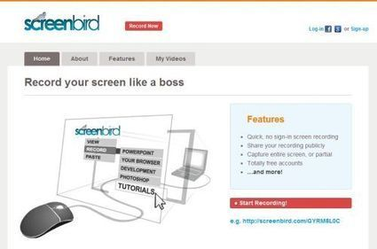 Maak eens gratis, online instructiefilmpje met Screenbird | Think Different with ICT | Scoop.it