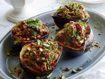 Vegan Quinoa-Cranberry Stuffed Acorn Squash : Food Network Kitchen : Food Network | Vegan Food | Scoop.it