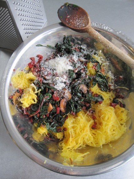 Spaghetti Squash with Swiss Chard and Parmesan - Whole Living Daily | Gluten Free | Scoop.it