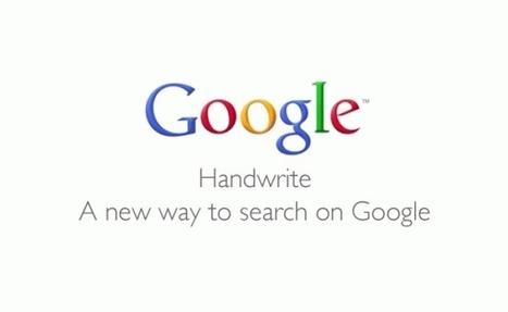 Googlez grâce à l'écriture manuscrite! | Les troubles de l'écriture | Scoop.it