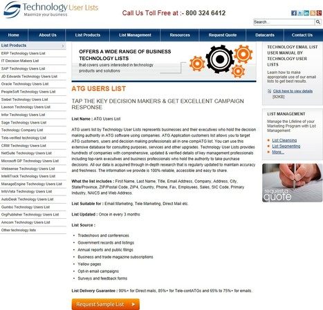 Highly Targeted ATG Customer List | Technology Email List | Scoop.it
