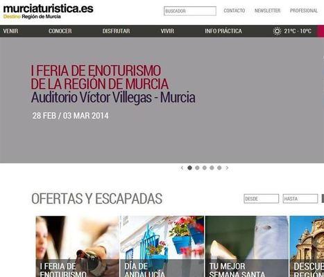 Murcia mejora su estrategia 'online' en turismo con una nueva web más comercial | Criterios de innovación tecnológica y periodística en la Red | Scoop.it