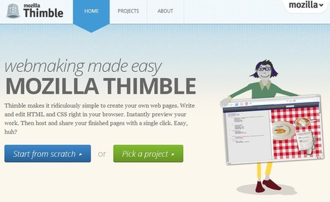 Mozilla Thimble : webmaking made easy | Time to Learn | Scoop.it