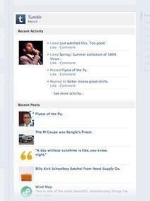 Tumblr si integra con Facebook   Social Media - Strategies & tools.   Scoop.it