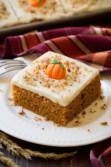 Pumpkin Sheet Cake with Cream Cheese Frosting - Cooking Classy | Passion for Cooking | Scoop.it